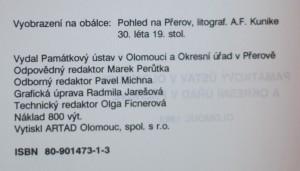 antikvární kniha Seznam nemovitých kulturních památek okresu Přerov, 1993