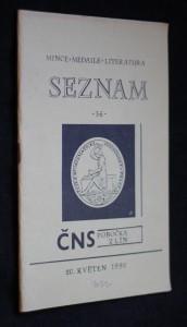 náhled knihy - Seznam: mince, medaile, literatura, č. 36