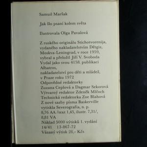 antikvární kniha Jak šlo psaní kolem světa, 1972