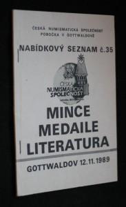 náhled knihy - Nabídkový seznam č. 35. Mince, medaile, literatura