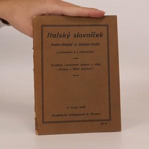 náhled knihy - Italský slovníček česko-italský a italsko-český s přízvukem a výslovností. Zvláštní rozšířené vydání z díla