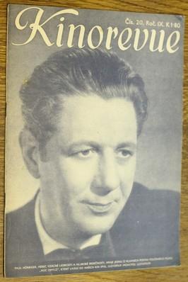 náhled knihy - Kinorevue č. 20 roč. IX na obálce Paul Hörbiger