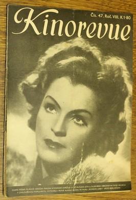 náhled knihy - Kinorevue č. 47 roč. VIII na obálce Magda Schneider