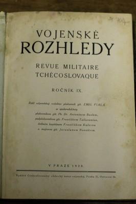 náhled knihy - Vojenské rozhledy : revue Militaire Tchecoslovaque, ročník IX.