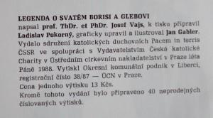 antikvární kniha Legenda o svatém Borisi a Glebovi, 1988
