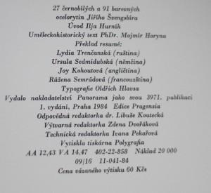 antikvární kniha Praha Jiřího Švengsbíra, 1984