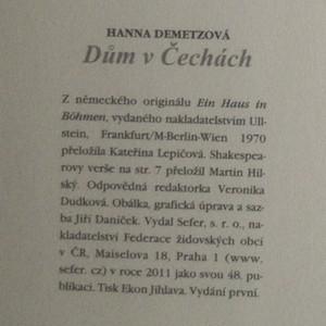 antikvární kniha Dům v Čechách, 2011