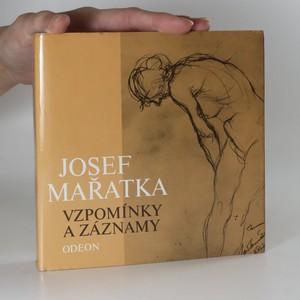 náhled knihy - Josef Mařatka. Vzpomínky a záznamy