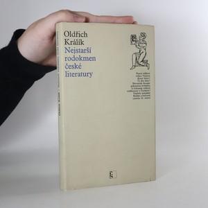 náhled knihy - Nejstarší rodokmen české literatury