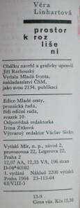 antikvární kniha Prostor k rozlišení, 1964