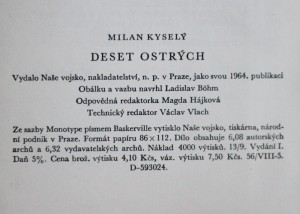 antikvární kniha Deset ostrých, 1959