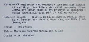 antikvární kniha Gottwaldovsko od minulosti k současnosti , 1987