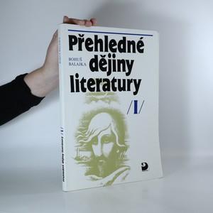 náhled knihy - Přehledné dějiny literatury. I. díl.