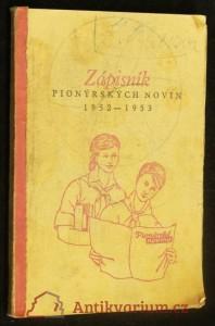 náhled knihy - Zápisník Pionýrských novin 1952-1953