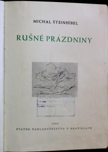 antikvární kniha Rušné prázdniny, 1946