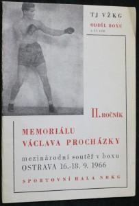 náhled knihy - II. ročník Memoriálu Václava Procházky mezinárodní soutěž v boxu OSTRAVA 16. - 18. 9. 1966
