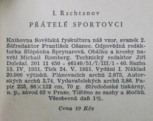 antikvární kniha Přátelé sportovci, 1951