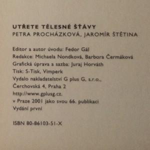 antikvární kniha Utřete tělesné šťávy, 2001