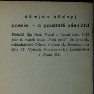 antikvární kniha O smyslu básnictví s výborem poesie, 1933