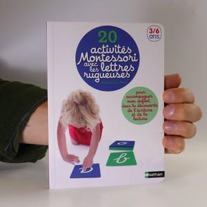 náhled knihy - 20 activités Monterssori avec les lettres rugueuses