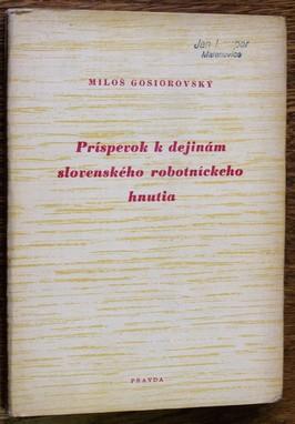 náhled knihy - Príspevok k dejinám slovenského robotníckeho hnutia