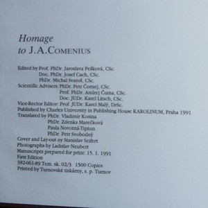 antikvární kniha Homage to J. A. Comenius, 1991