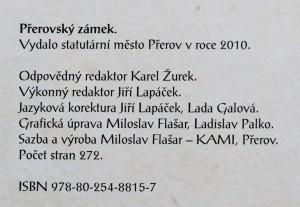 antikvární kniha Přerovský zámek, 2010