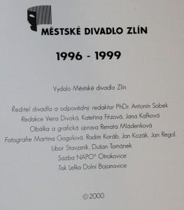 antikvární kniha Městské divadlo Zlín 1996-1999, neuvedeno