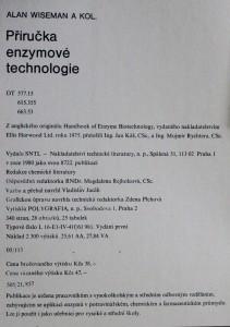 antikvární kniha Příručka enzymové technologie, 1980