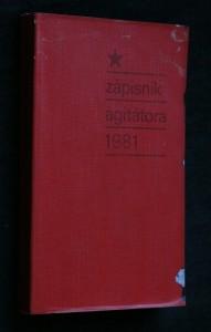náhled knihy - Zápisník agitátora 1981