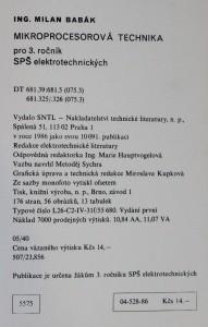antikvární kniha Mikroprocesorová technika : učebnice pro 3. roč. SPŠ elektrotechn., 1986