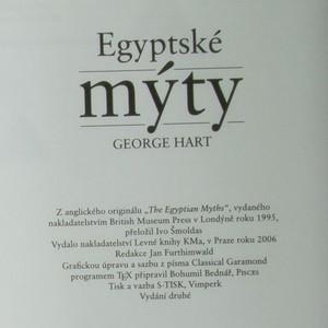 antikvární kniha Egyptské mýty, 2006