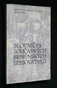 náhled knihy - Slovníček současných brněnských spisovatelů
