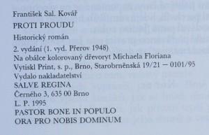 antikvární kniha Proti proudu : historický román [o knězi a mučedníkovi Janu Sarkandrovi], 1995