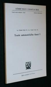 náhled knihy - Teorie automatického řízení I : Určeno pro posl. fak. technologické