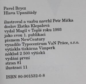 antikvární kniha Hlava Upanišády, 1993
