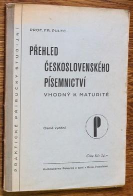 náhled knihy - Přehled československého písemnictví