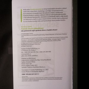 antikvární kniha Trénink slovní sebeobrany. Jak pohotově najít správná slova v každé situaci, 2011