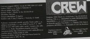 antikvární kniha Crew, číslo 14, ročník III., 1999