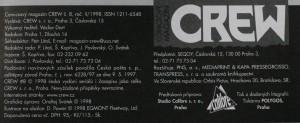 antikvární kniha Crew, číslo 8, ročník II., 1998