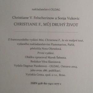 antikvární kniha Christiane F. Můj druhý život, 2014
