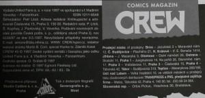antikvární kniha Crew, číslo 5, 1997