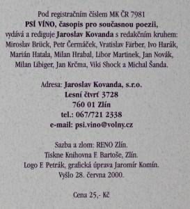 antikvární kniha Psí víno, číslo 13, 2000