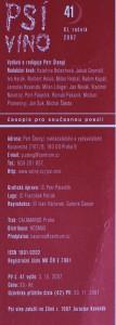 antikvární kniha Psí víno, číslo 41, ročník XI., 2007
