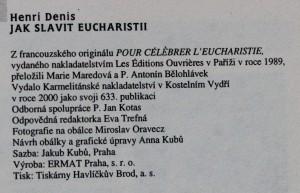antikvární kniha Jak slavit eucharistii, 2000