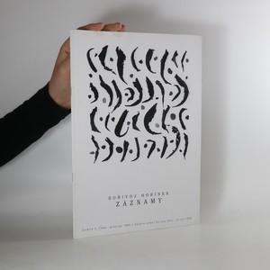 náhled knihy - Bořivoj Hořínek. Záznamy