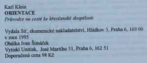 antikvární kniha Orientace : průvodce na cestě ke křesťanské dospělosti, 1995