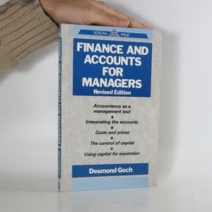 náhled knihy - Finance and accounts for managers