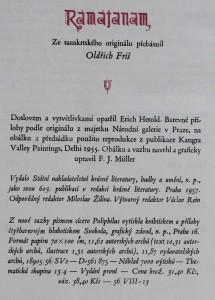 antikvární kniha Rámájanam, 1957