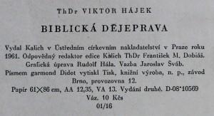 antikvární kniha Biblická dějeprava, 1961